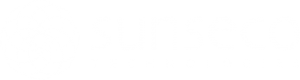 Logo firmy Sunseco - white
